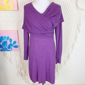 Athleta purple organic Cotton sochi wrap dress S